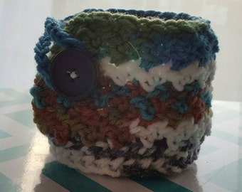 Custom Crochet Coffee Mug Cozy Cover