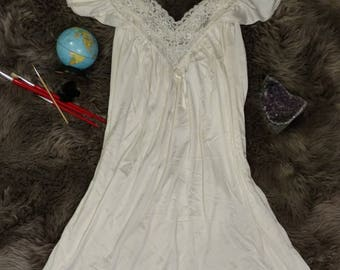 Miss Elaine  Vintage Silky Night Gown