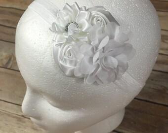 White mini flower headband