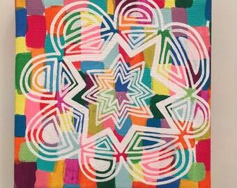 Mandala Zentangle Canvas Wall Art