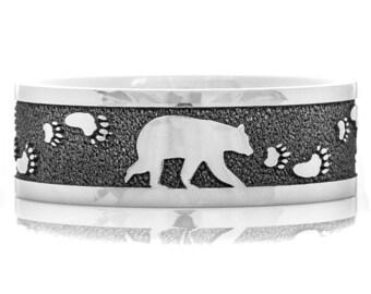 Men's Walking Bear Ring