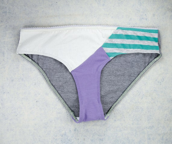 MEDIUM - EVI Hipster cut panties, unique, upcycle and handmade in Québec