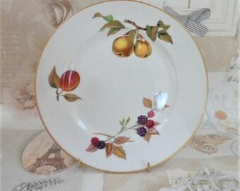Royal Worcester Salad Plate Evesham Pattern Vintage Porcelain Oven To Table  Ware