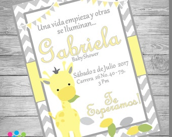 NEW!!!! GIRAFFE  Baby Shower Invitation!!!!!