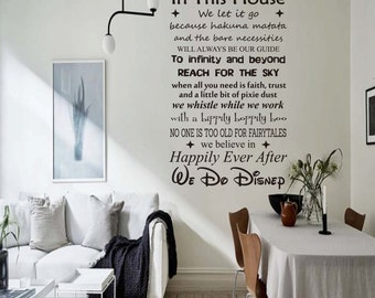 Beautiful We Do Disney Wall Decal Vinyl Decor In This House Disney Kids Decal Part 24