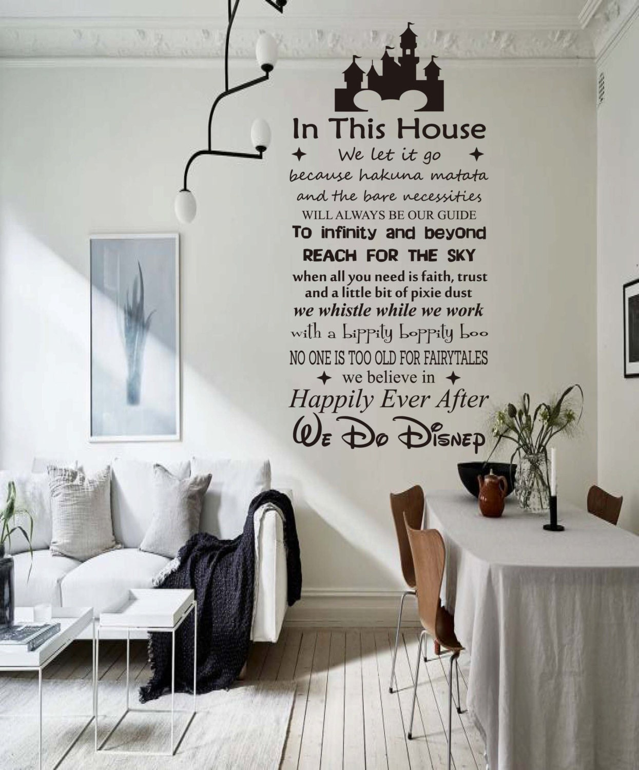 Details about IN THIS HOUSE WE DO DISNEY Vinyl Wall Decal Sticker Room  Decor Family Rules 48\