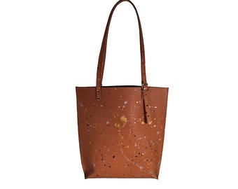 Splatter Leather Tote