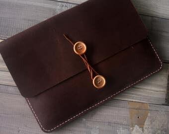 Kindle Paperwhite Case Kobo Sleeve, Nook Glowlight Case, Leather Portfolio, 100% hand stitched / genuine leather, Custom All e-READERS