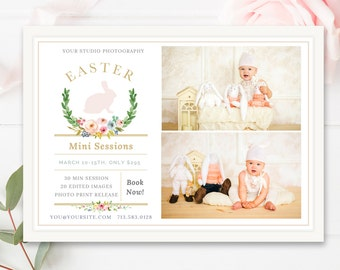 Easter Mini Session Marketing Board, Easter Mini Session Template, Easter Marketing Board, Modern Marketing Templates- INSTANT DOWNLOAD