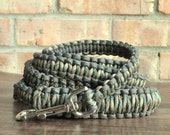 Reflective Olive and Camouflage Paracord 6ft Dog Leash