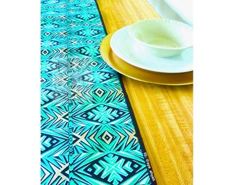 Stunning table runners in exclusive genuine African wax print or hand-dyed batik; reversible - lots of styles!