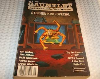 GAUNTLET STEPHEN KING Special 1991 Exploring The Limits of Free Expression Ray Bradbury Andrew Vachss 2 Live Crew John Skipp Craig Spector