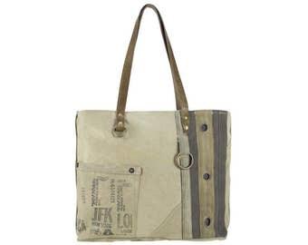 Sunsa woman Shopper Handbag canvas bag shoulder bag Artno.: 51684