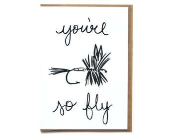 Fly Fishing Card | Card for Fishing Buddy | Card for Him or Her | Just Because Fishing Card | Fly Fishing Illustration | Adventure Friend