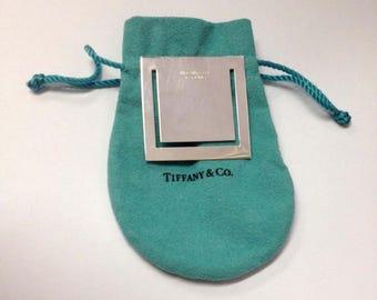 Rare Tiffany Sterling Silver Square Box Shaped Bookmark