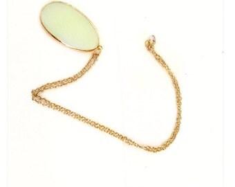 Jade necklace, jade gold necklace, gold jade necklace, naticual jade necklace