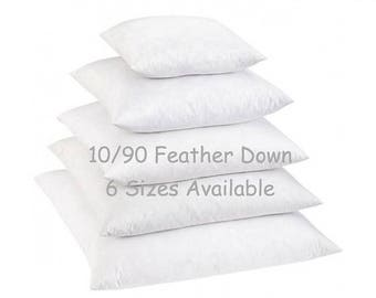 SALE 18x18 Down Pillow Insert // 10/90 Down Feather Blend Pillow Inserts // Pillow  Form // Down Pillow Form