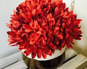 Rich Maroon Artificial Floral Arrangement