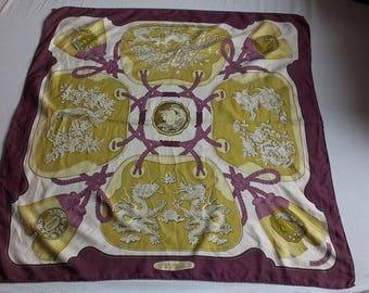Hermes scarf, shawl silk 1971