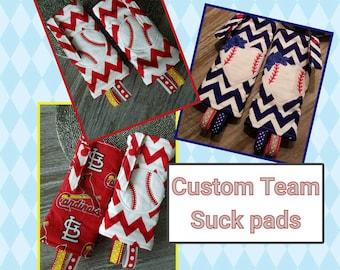 """Custom Team  suck pads for SSC. Up to 4"""" strap. Lillebaby,  Tula,  Becco, Ergo original. Applique options available"""