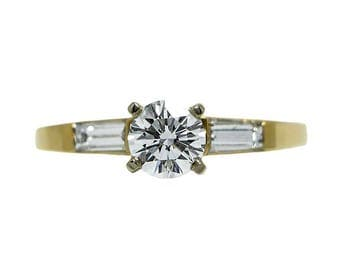 14k Yellow Gold GIA Certified Diamond Engagement Ring