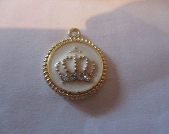 Princess crown themed enamel  pendant needle minders  magnet
