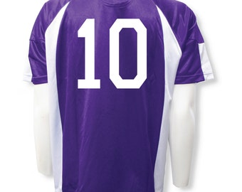 Imperial soccer jersey customized with your player number