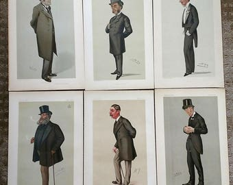 "A Collection of SIX ""Men of the Day Vanity Fair Prints # 3"