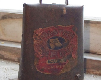 Antique No. 2 Holstein Cow Bell