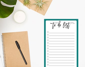 To Do List Notepad • Turquoise Notepad• Planner Notepad • Daily Planner • Daily Planner Notepad • Organization • Productivity