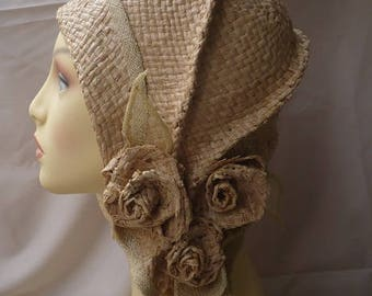 Spring Cloche, Summer Cloche, Straw Hat, Raffia Hat, 20s Hat, Vintage Hat, 20s Style Hat,Vintage Style Hat, Womens Accessories, Fascinator