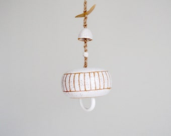 Made to Order | Palisade white bell, chime handmade by MUD TO LIFE