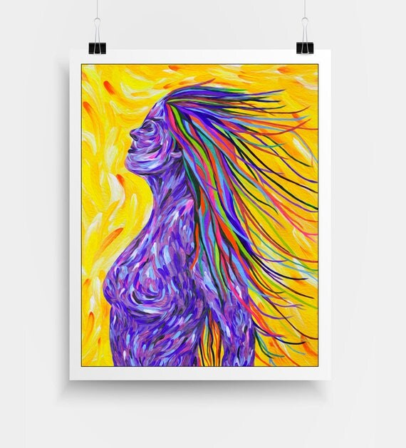 Woman Wall Art - Krystle Cole Self Portrait, NeuroSoup, Transformative Art, Visionary Art, Psychedelic Poster, Abstract Portrait, Art Print.