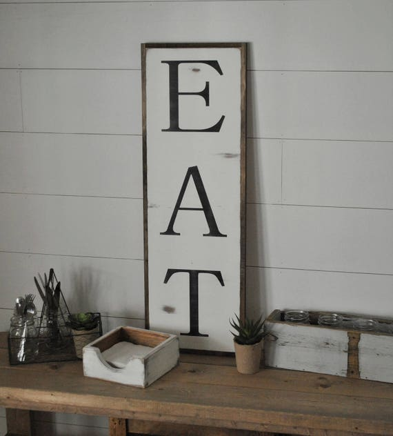 ON SALE EAT 1X3 Sign Farmhouse Dining Room Wall Decor