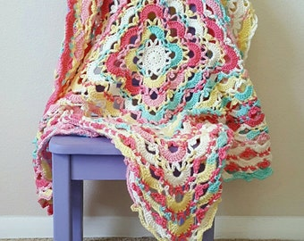 Gemstone Lace Blanket Crochet Pattern *PDF FILE ONLY* Instant Download