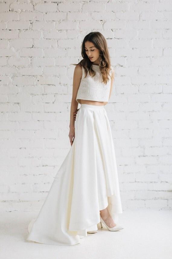 Crop Top Wedding Dress Of Bridal Crop Top Wedding Top Bridal Separates Bridal Lace