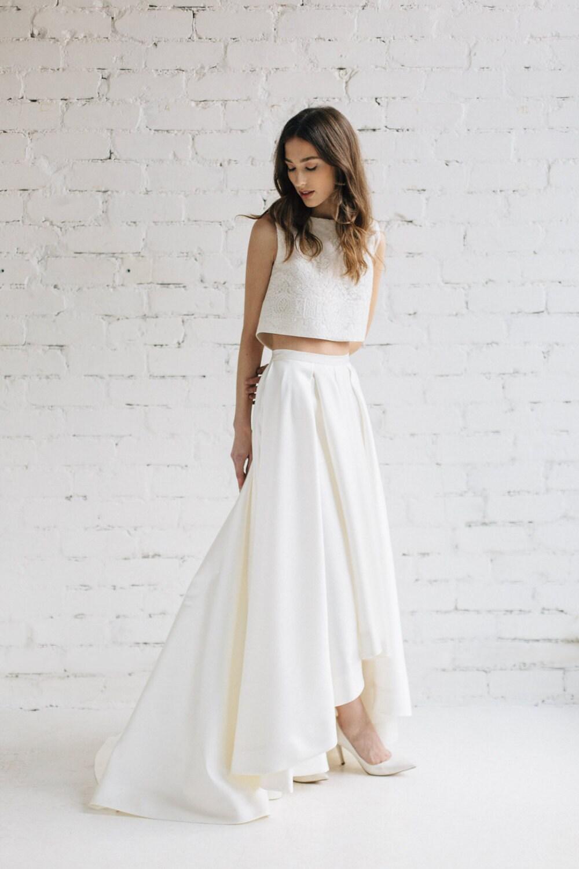 Bridal Crop Top Wedding Top Bridal Separates Bridal Lace