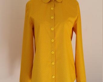 Women's Yellow Polka Dot Shirt