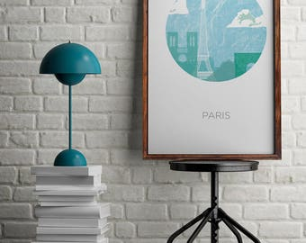 Paris print for home decor, Eiffel tower poster for wall decor, wall art