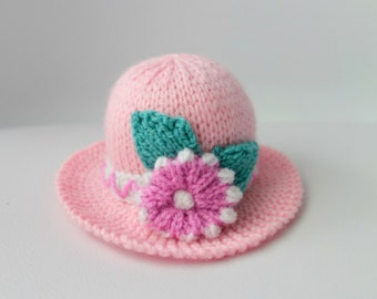 Pink Pin Cushion - Bright Needle Cushion - Floral Pin cushion - Hat Pin Cushion - Novelty Pin Cusion - Pincushion (Ready to Post)