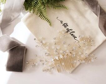 Bridal Crystal Comb #177
