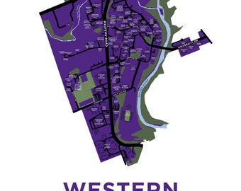 Western University Map Print
