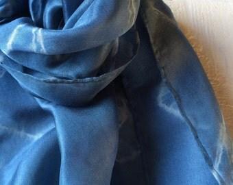 silk scarf, silk, hand painted silk scarf, handpainted scarf, shibori scarf, shibori, womens scarf, mens scarf
