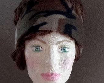 Head-Ear Warmer In Camouflage fleece