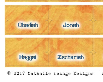 Bible Accessories Printable Tabs DYI Stickers Orange Grunge DIY Labels Bible Printable Tabs Old New Testament Nathalie Lesage 2017BT10