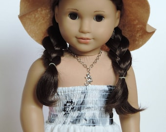Beige Floppy Hat - 18 Inch Doll Clothes
