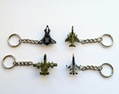 USAF, US Navy, and USMC Military Fighter Jet Key Chain: F-14, F-15, F-16, F-4. Vintage Micro Machine size replica. Great birthday gift!
