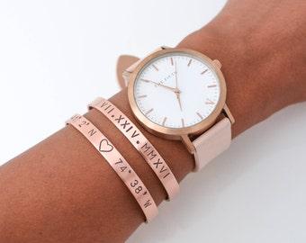 Roman Numeral Cuff // Birthdate Bracelet // Anniversary Band // Personalized Bracelet // Knox Thomas Designs