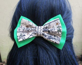 Double Layered Legend of Zelda hair bow, hair bow clip, fabric hair bow clips, hair bows for teens, women hair bow hairbows, men's bowtie