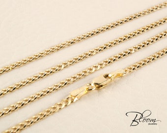 14K Gold Chain for Men Gold Necklace Chain for Men Gold Curb Chain Gold Curb Chain Necklace for Men Gold Chain Solid Gold Chain Necklace